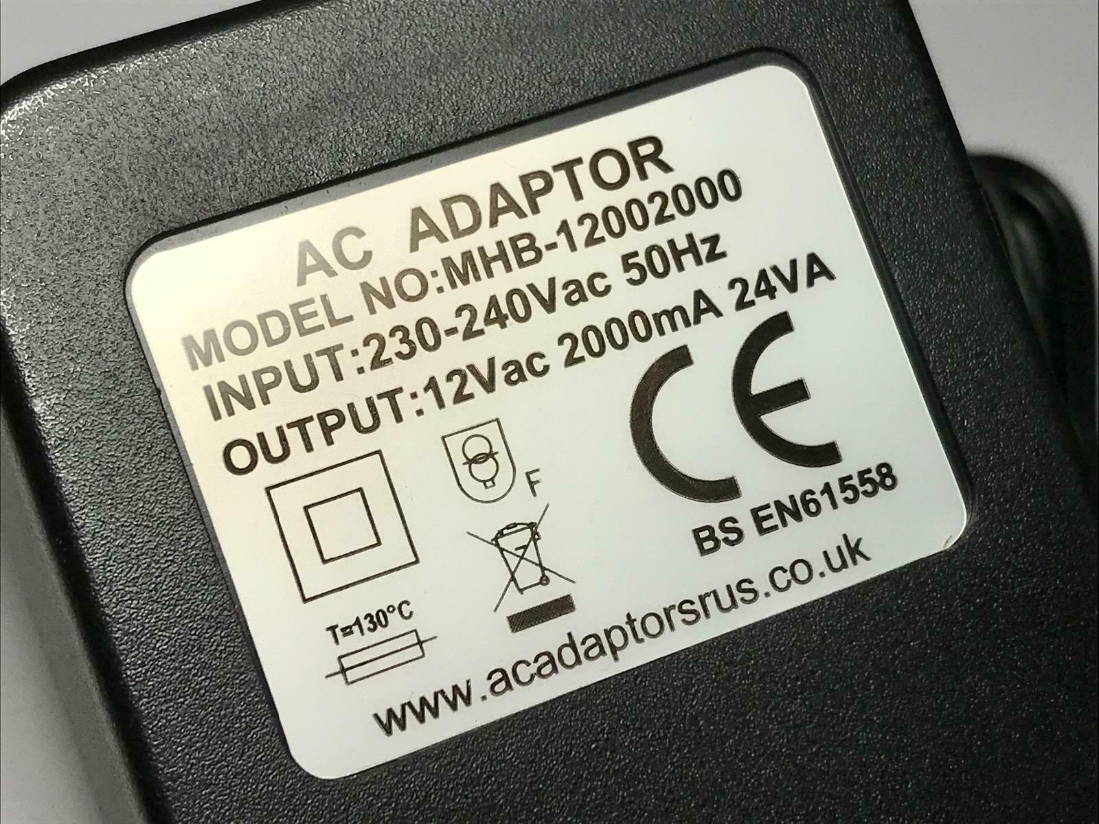 Replacement for 12VAC 1700mA 20VA AC-Power Supply model XY-12001700AB