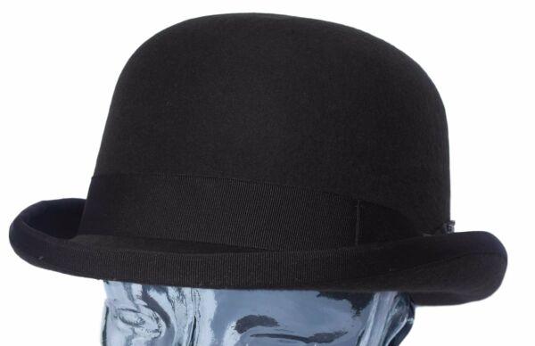 100% Felt Bowler Hat - Size 61 Cm Famoso Per Materiali Selezionati, Disegni Innovativi, Colori Deliziosi E Lavorazione Squisita