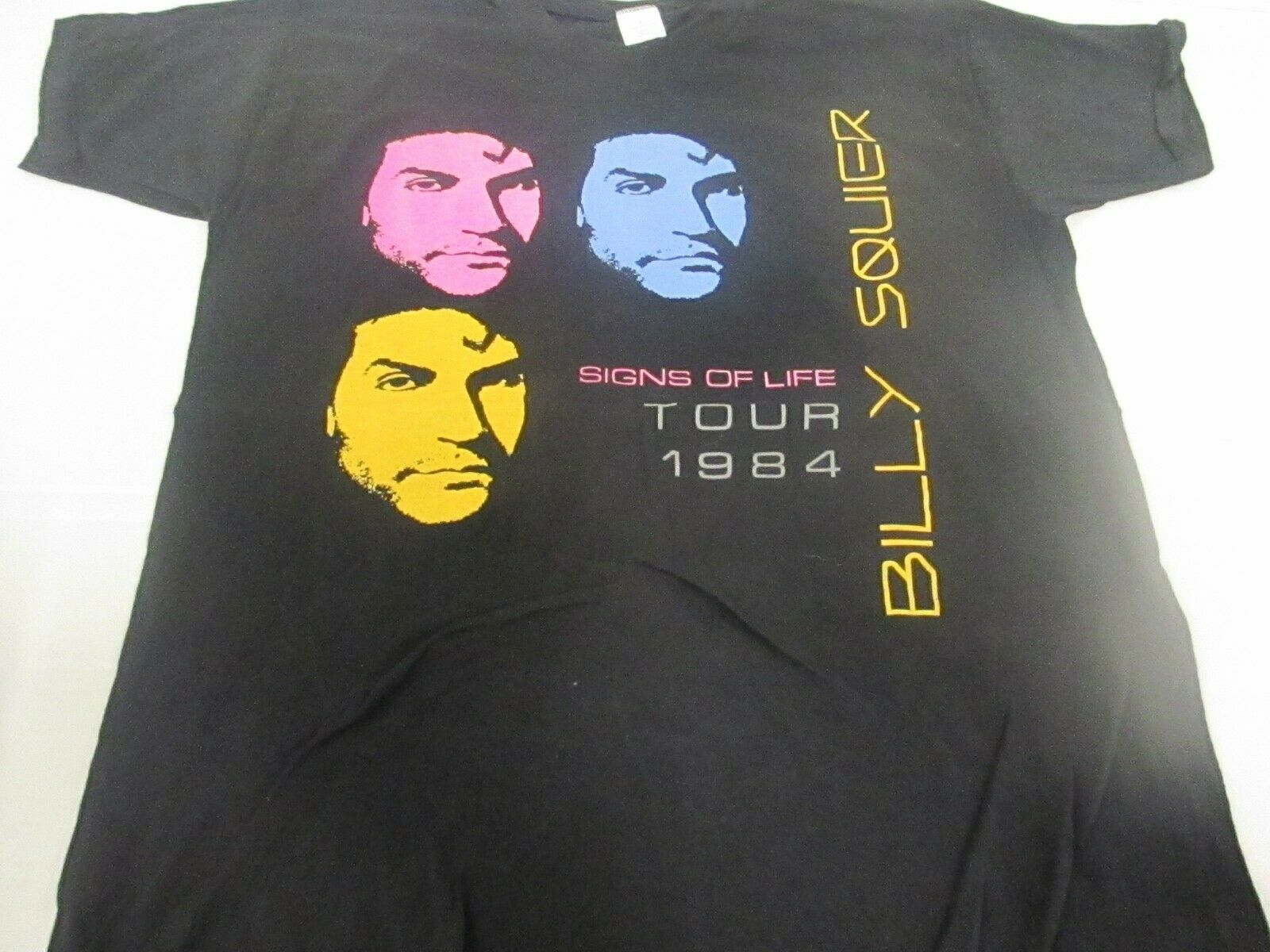 VTG RARE 80s Billy Squier Signs Of Life Tour 1984 T hemd Tagged L Made In USA