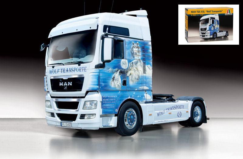 MAN TGX TGX TGX XXL Wolf Transporte Camion Truck Plastic Kit 1:24 Model 3921 ITALERI | Avec Une Réputation De Longue Date  16229c