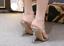 Women-039-s-Open-Toes-Rhinestones-PVC-Gold-Clear-Slingbacks-Sandals-Slim-High-Heels thumbnail 7