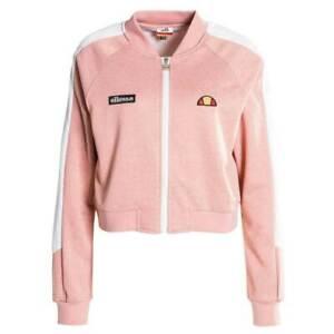 Ellesse-Crop-Track-Top-Jacket-Crop-Full-Zip-Pink-Marl-Logo-Summer-RRP-50