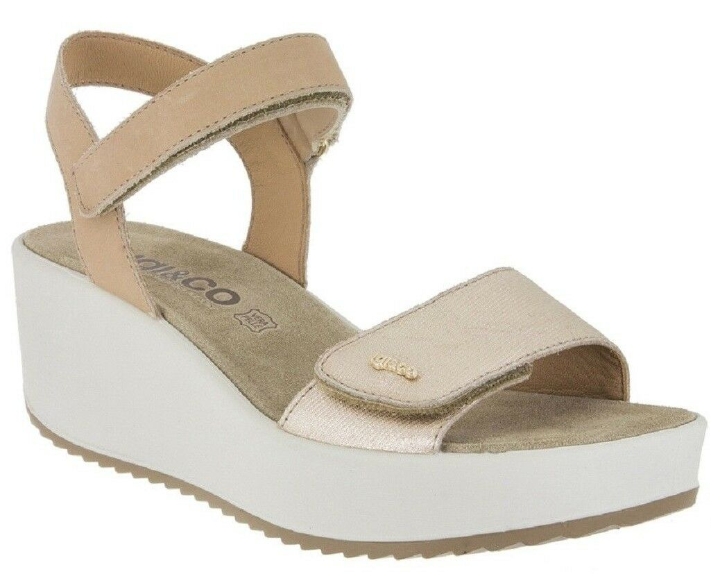 IGI&CO 1176377 Sandaleo Casual Damenschuhe - Woman Schuhes MADE IN ITALY Platino Suede