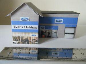 Details about Basic Card Built Model Railway Buildings N Gauge Ford Garage