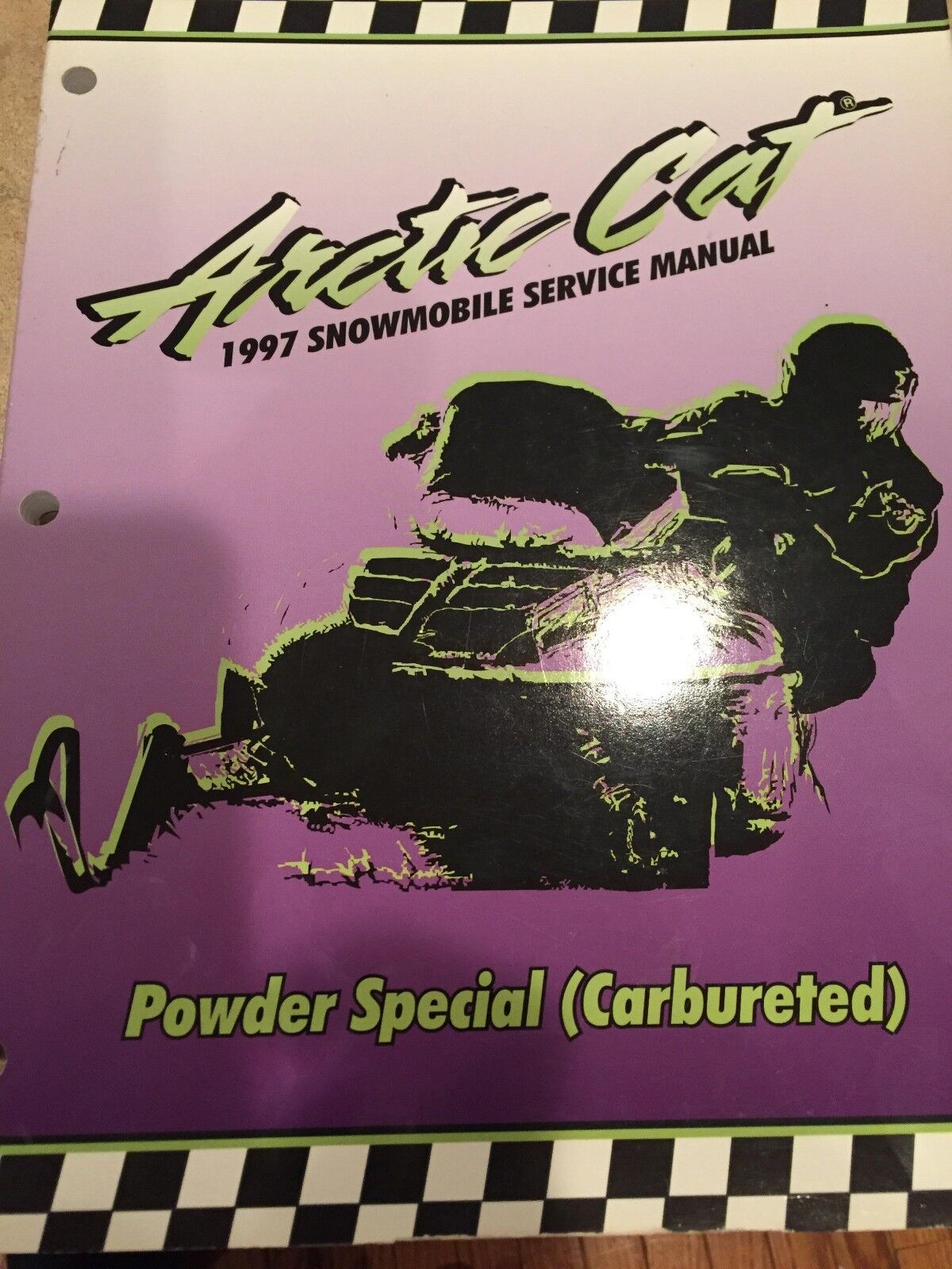 1997 Arctic Cat Powder Special(carbureted) Service Manual PN   2255-529  fast shipping worldwide
