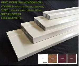 Image is loading UPVC-External-Window-Cill-Door-Cill-4-SIZES- & UPVC External Window Cill Door Cill 4 SIZES \u0026 3 COLOURS AVALABLE ...