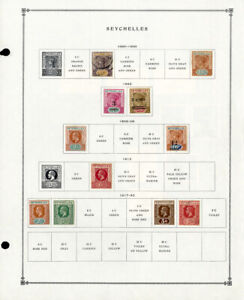 Seychelles-Popular-1800s-to-1980s-Clean-Mint-amp-Used-Stamp-Collection
