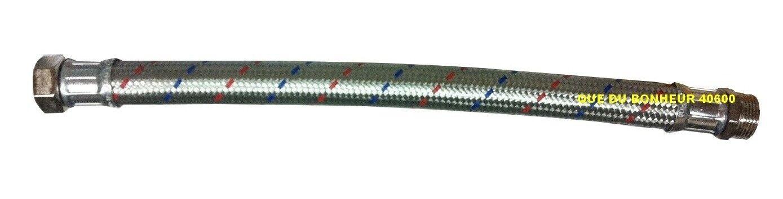 Tuyau Flexible Droit 70cm 1 1 2(40x49) Mâle Femelle Inox Pompe Surpresseur 55064
