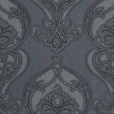 P+S Dieter Bohlen StudioLine 02426-30 Vliestapete Grau Silber Ornamente Barock