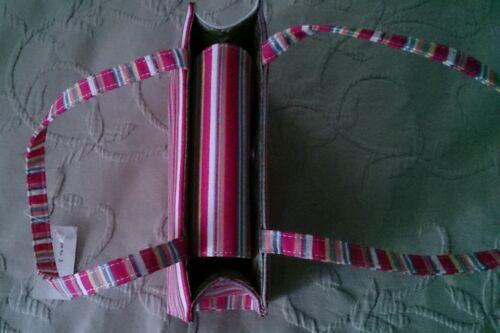 Vogue rose en tissu moderne dur fourre Sac rayé avec marque R1271b tout étiquette de HqfxwU