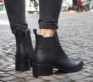 Rockamora-Najwa-Schuh-black-Stiefelette-6003-Premium-Leather-Chelsea-Boots-NEU