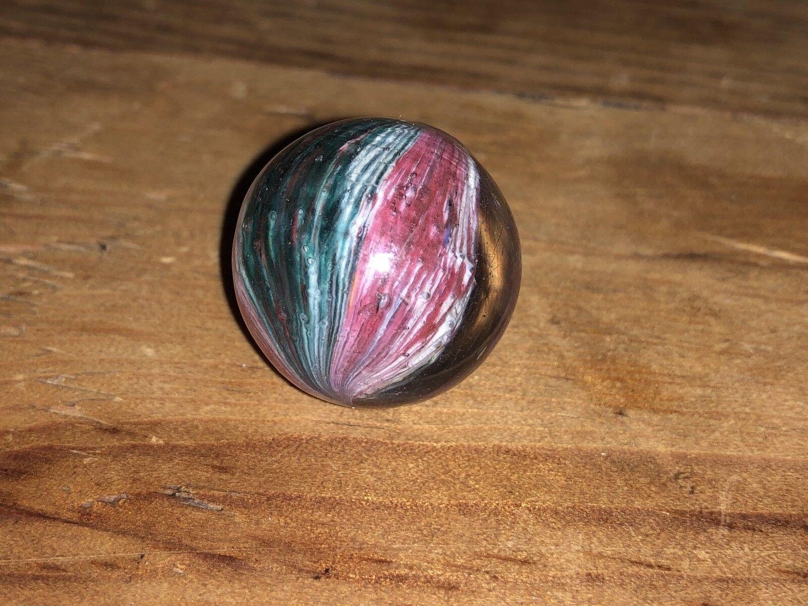 "Early Antique German Shrunken Multi color Onion Skin Mica 13 16"" inch Wet Mint"