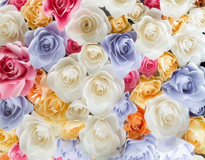 3D Nice Farbeful Flowers Floor WallPaper Murals Wall Print Decal 5D AJ WALLPAPER