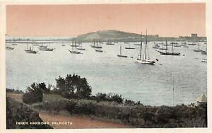 POSTCARD-CORNWALL-FALMOUTH-INNER-HARBOUR