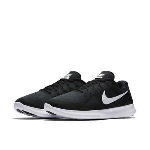 fd9873adfe8 Nike Free RN 2017 Running Shoes Black White 880839-001 Men s NEW