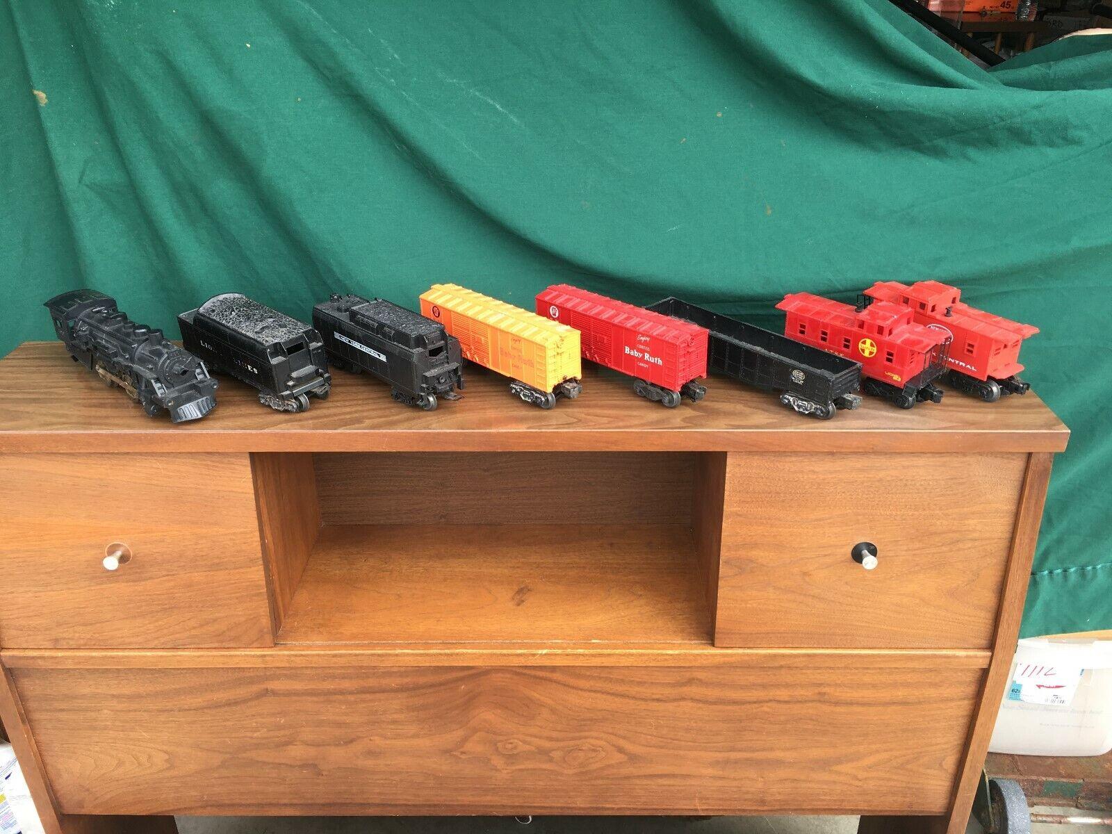 Vtg LIONEL TRAIN Lot NY Central System Santa Fe Baby Ruth Candy Model Railroad