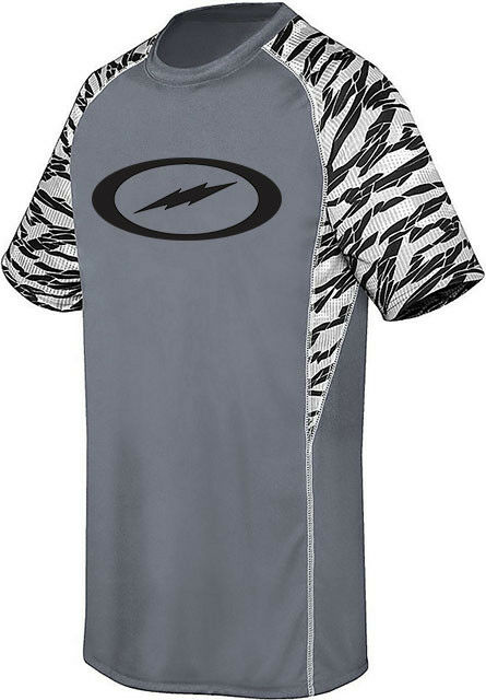 Storm Men's 2Furious Performance Crew Jersey Bowling Shirt Dri-Fit Grey