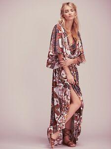 Free-People-Fern-Printed-Maxi-Dress-Cream-Combo-NWT-350-0-2