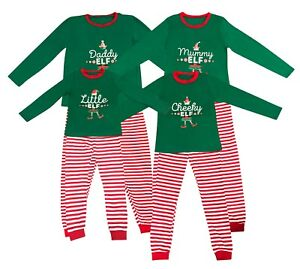 Elf-Pyjamas-Christmas-Family-PJs-Matching-Set-Dad-Mum-Cheeky-Little-Elves-Xmas