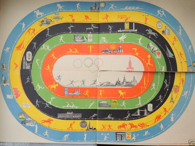 OLYMPIC Kids Game Table Board Fun Family Vintage Soviet Russian 1986's Toy Gift