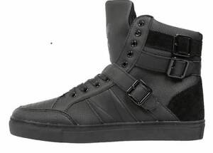 Trainers-Criminal-Damage-London-Shoes-Men-High-Top-Black-Trainers-UK-6-to-12