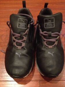 PUMA Faas Lite 186742 Men s 7.5M Eu 40 White Black Golf Shoe  a3df6dfdd