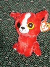 "Ty Beanie Boos - TOMATO the Gift Show Exclusive Red Chihuahua Dog ~ 6"" ~ 2014"