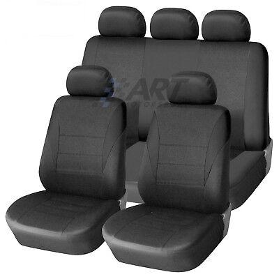 Fundas de asiento protector para coche de 5 plazas adaptables con reposacabezas