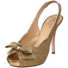 "New! Glittery Gold Kate Spade New York ""Giada"" Slingback Pump Heels Size 7.5M"