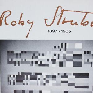 Robert Strübin Plakat 1972 Musikbilder Op Art Künstler Austellung Nürnberg