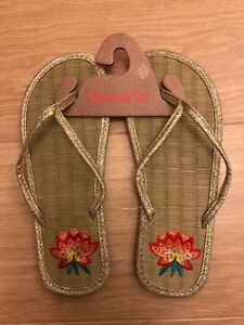 3382b1190 Image is loading Accessorize-Monsoon-Ladies-Seagrass-Flip-Flops-Size-S-