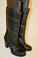 Timberland Womens Ladies Black Leather Waterproof Mid-Calf Boots Size 7M