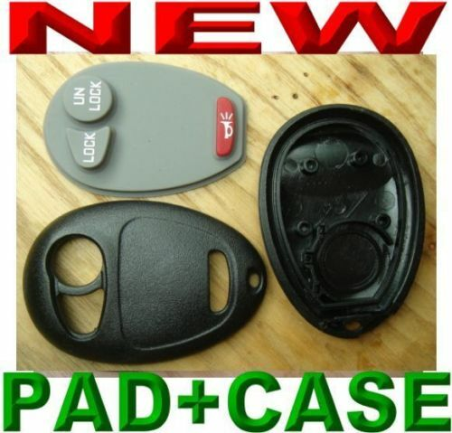 BUTTON PAD 3BTS GM KEYLESS ENTRY REMOTE FOB TRANSMITTER REPLACEMENT SHELL CASE