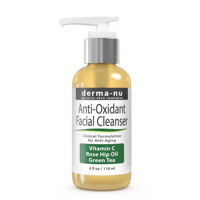 Anti Aging Cleanser by Derma-nu - Natural Face Wash - Facial Cleanser 4OZ