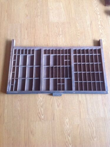 Vintage Hamilton Manufacturing Wood Printing Letterpress Tray Drawer Shadow Box