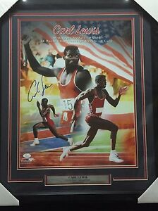 FRAMED-Autographed-Signed-CARL-LEWIS-USA-Track-Gold-Medalist-16x20-Photo-JSA-COA