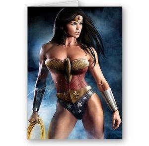 Wonder Woman A5 Happy Birthday Christmas Card Ebay