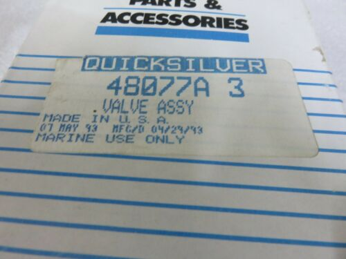 I4A New Quicksilver Mercruiser 48077A3 Valve Assembly OEM Factory Stern Drive