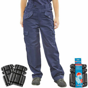 up-to-datestyling fashion style of 2019 best site Details about Click Ladies Womens Work Trousers Workwear Cargo Pants  Pockets - FREE KNEE PADS