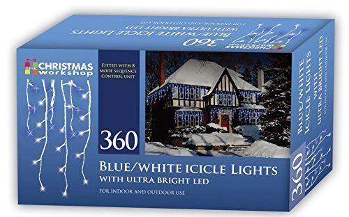 Christmas Workshop Xmas 360 LED Icicle Chaser Lights Blue//White