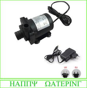 Pet Supplies Micro Water Pump 12v/24v Hot Water Circulation Pump Female Plug With Adapter