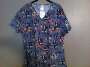image is loading disney halloween nurse scrubs 2x xxl nwt