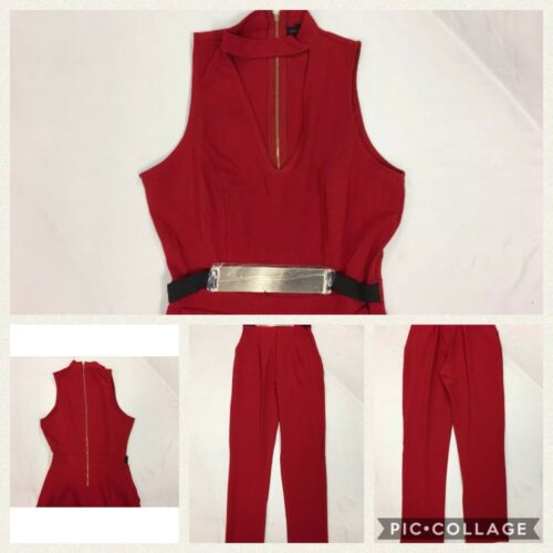'Belted Choker Tuta Nwt 886680005555 Taglia Sv3 Girl Rossa Material Juniors Piccola 741EW