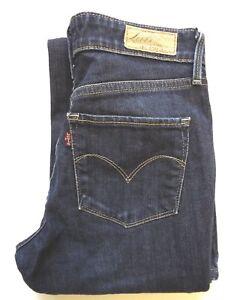 Levi-039-s-Demi-Curve-Jeans-Damen-Stretch-Boot-Cut-w26-l32-dunkelblau-levj-372