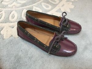 d4d3297b5a Image is loading NEW-Sebago-Purple-Pearlescent-Gray-Leather-Boat-Shoes-