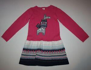 New-Gymboree-Girls-Glitter-Giraffe-Sweater-Pink-Dress-NWT-3T-5T-Ice-Dancer-Line