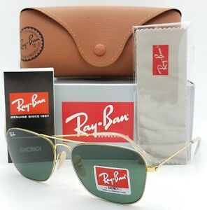 NEW-Rayban-Sunglasses-RB3603-001-71-56mm-Gold-Classic-Grey-Green-3603-AUTHENTIC