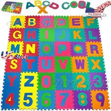 36pcs Baby Kids Room Alphabet Number Foam Crawl Playing Floor Mat Jigsaw Puzzle