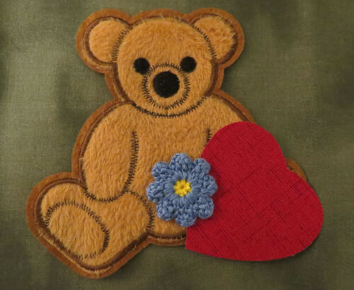Kaylee Serenity//Firefly Applique Patch Set Sew-On Bear, Flower, Heart