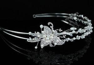 Hochzeit Elfenbein Farbe Perle Diadem Benutzen Swarovski Kristall